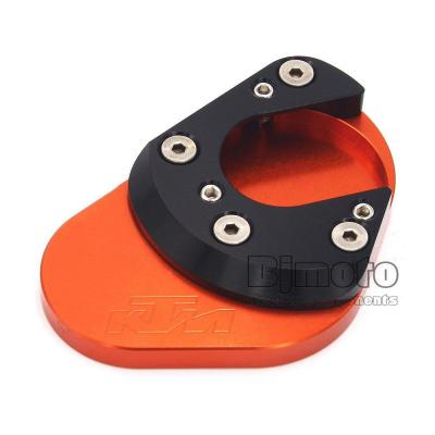 BJ Global NC Aluminum Motorcycle Side Kickstand Stand Extension Plate For KTM DUKE 125 200 390 4 Color
